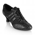 418 Tiber Black Croc Leather / Mesh