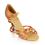 825 Drizzle Light Tan Satin Metallic Heel*