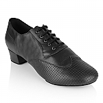 318 Adolfo Black Perforated Leather