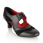 L111 Lorna Lee Black Leather Suede